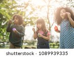 Group Diverse Kids Cute Friends - Fine Art prints
