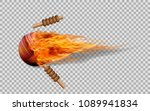 realistic vector cricket ball... | Shutterstock .eps vector #1089941834