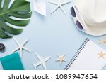 summer holidays  vacation ... | Shutterstock . vector #1089947654