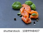 red fish trout with pepper and... | Shutterstock . vector #1089948407