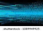 binary circuit board future... | Shutterstock .eps vector #1089949925