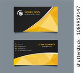 modern creative business card... | Shutterstock .eps vector #1089959147