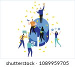 leadership qualities creative... | Shutterstock .eps vector #1089959705