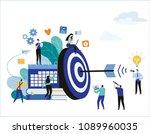 target with arrow vector...   Shutterstock .eps vector #1089960035