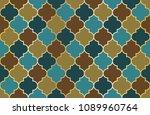 moroccan mosque window vector... | Shutterstock .eps vector #1089960764