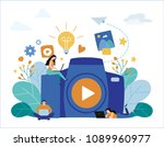 photography courses  tutorials  ... | Shutterstock .eps vector #1089960977