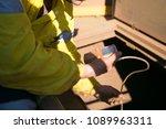 certifies officer wearing... | Shutterstock . vector #1089963311