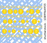 bitcoin  the concept of earning ... | Shutterstock .eps vector #1089964955