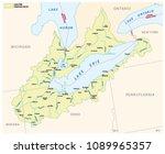Lake Erie Drainage Basin Vecto...