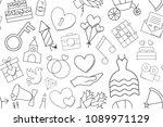 vector wedding pattern. wedding ... | Shutterstock .eps vector #1089971129