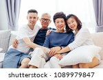 asian family with adult... | Shutterstock . vector #1089979847
