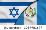 flag of israel and guatemala   Shutterstock . vector #1089981677