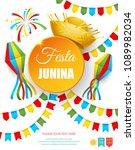festa junina   text in... | Shutterstock .eps vector #1089982034