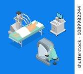 robotic surgery concept 3d...   Shutterstock .eps vector #1089982244