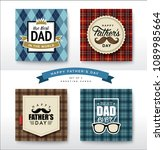 set of happy fathers day... | Shutterstock .eps vector #1089985664