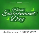 world environment day.... | Shutterstock .eps vector #1089999209