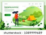 vector illustration    tourist... | Shutterstock .eps vector #1089999689