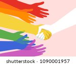 illustration of rainbow colored ... | Shutterstock .eps vector #1090001957