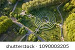 aerial view a natural labyrinth ... | Shutterstock . vector #1090003205