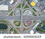 aerial view roadway system in... | Shutterstock . vector #1090003229