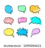 vector speech bubbles... | Shutterstock .eps vector #1090004621