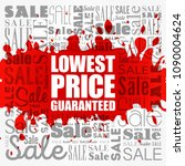 lowest price guaranteed word... | Shutterstock .eps vector #1090004624