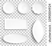 isolated template of plate... | Shutterstock .eps vector #1090004924