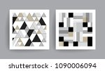 triangle and square background. ... | Shutterstock .eps vector #1090006094