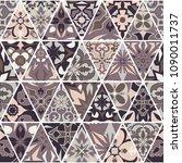 vector seamless texture. mosaic ... | Shutterstock .eps vector #1090011737