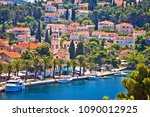 town of cavtat waterfront view  ... | Shutterstock . vector #1090012925