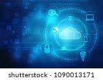 2d rendering cloud computing ... | Shutterstock . vector #1090013171
