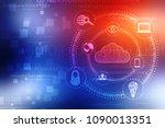 2d rendering cloud computing ... | Shutterstock . vector #1090013351