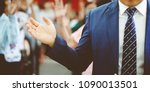 business man with open arms... | Shutterstock . vector #1090013501