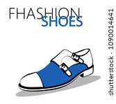 fashion shoes sketch vector | Shutterstock .eps vector #1090014641