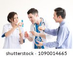 group of medical scientist  ... | Shutterstock . vector #1090014665