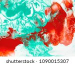 green and red marble abstract... | Shutterstock . vector #1090015307