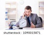 businessman employee in urgency ... | Shutterstock . vector #1090015871