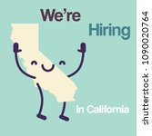 we are hiring in california... | Shutterstock .eps vector #1090020764