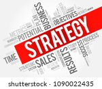 strategy word cloud collage ... | Shutterstock . vector #1090022435