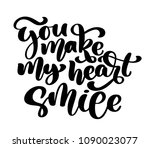 you make my heart smile hand... | Shutterstock .eps vector #1090023077