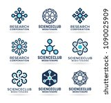 science logo  atom and molecule ... | Shutterstock .eps vector #1090025909