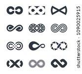 infinity logo design graphics | Shutterstock .eps vector #1090025915