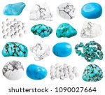 collection of various howlite... | Shutterstock . vector #1090027664