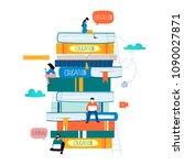 education  online training... | Shutterstock .eps vector #1090027871