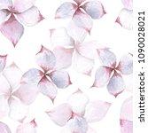 plumeria flowers watercolor... | Shutterstock . vector #1090028021