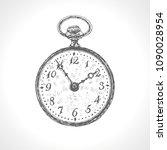 antique pocket watch. clock  ... | Shutterstock .eps vector #1090028954