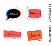 set of follow me quotes with... | Shutterstock .eps vector #1090032581