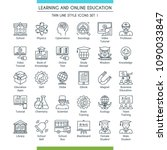 learning and online education... | Shutterstock .eps vector #1090033847