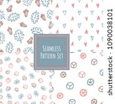 vintage color seamless pattern... | Shutterstock .eps vector #1090038101