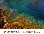 clear blue water in the bay. | Shutterstock . vector #1090041179